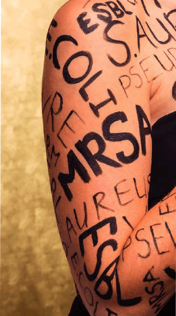 arm with text